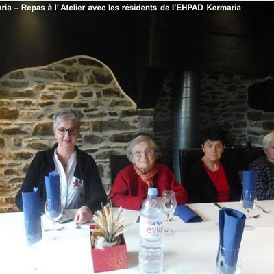Amis de Kermaria : Photos des sorties aux restaurants avec les résidents de l''EHPAD