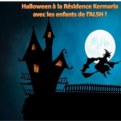 Halloween avec la Résidence Kermaria et les enfants de l''ALSH