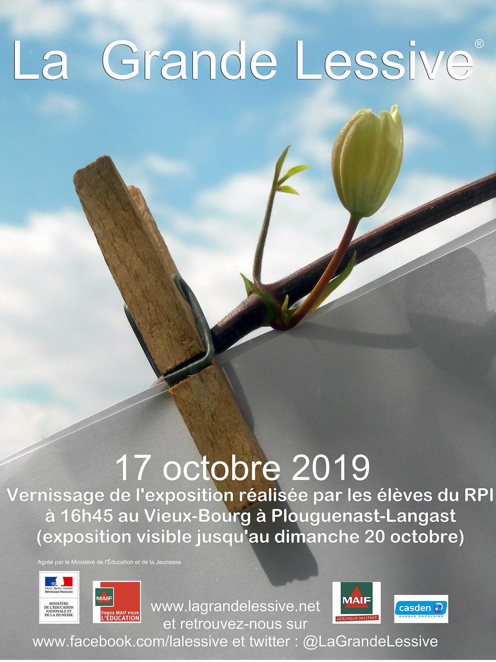 RPI Plouguenast-Langast : exposition La Grande Lessive du 17 au 20 octobre 0