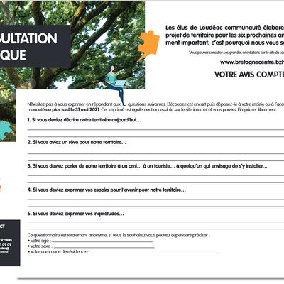 Consultation publique Loudéac Communauté