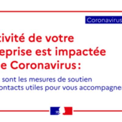 Mesures économiques en faveur des entreprises impactées par le Coronavirus