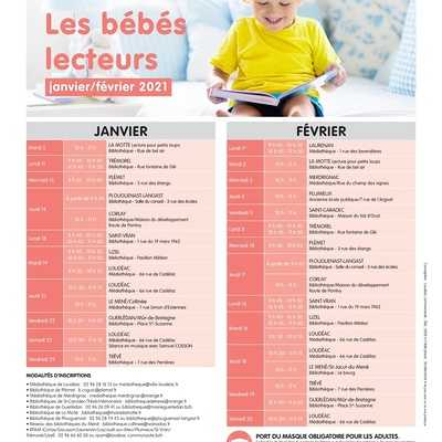 PLANNING DES BEBES LECTEURS - JANVIER/FEVRIER 2021