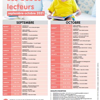Planning des bébés lecteurs septembre / octobre
