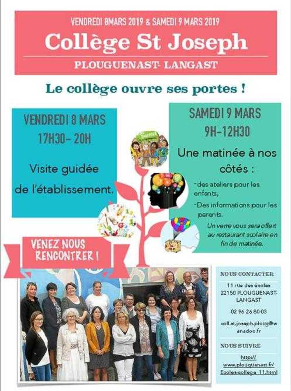 Portes ouvertes Collège Saint-Joseph afficheportesouvertescollege