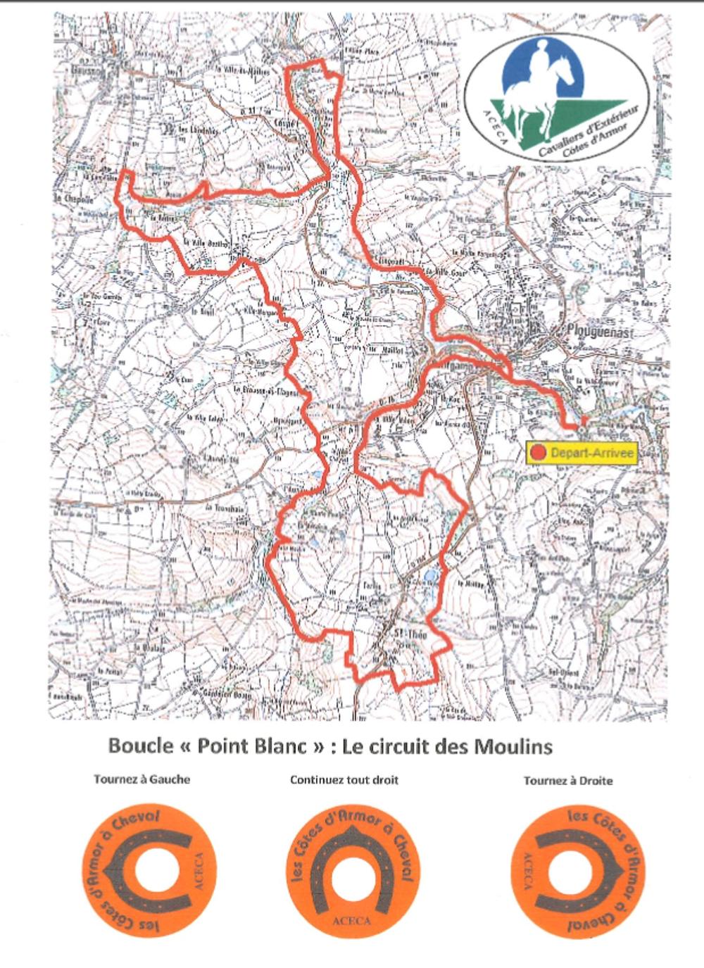 Randonnée équestre : circuit des Moulins (25 km) 0
