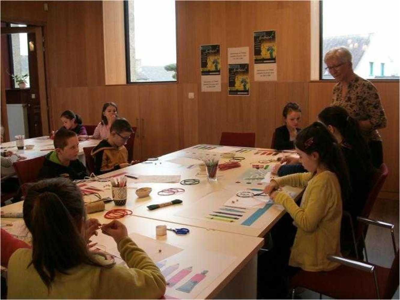 Bibliothèque : photos de l''atelier création d''un abécédaire attrape rêves image8