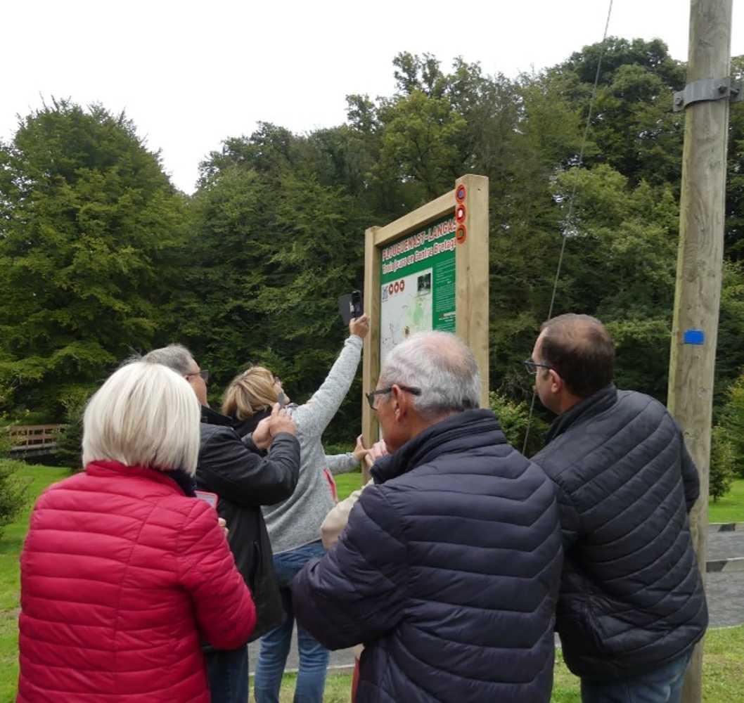 Photos de l''inauguration du panneau des 3 boucles à Guette-es-Lièvres image14