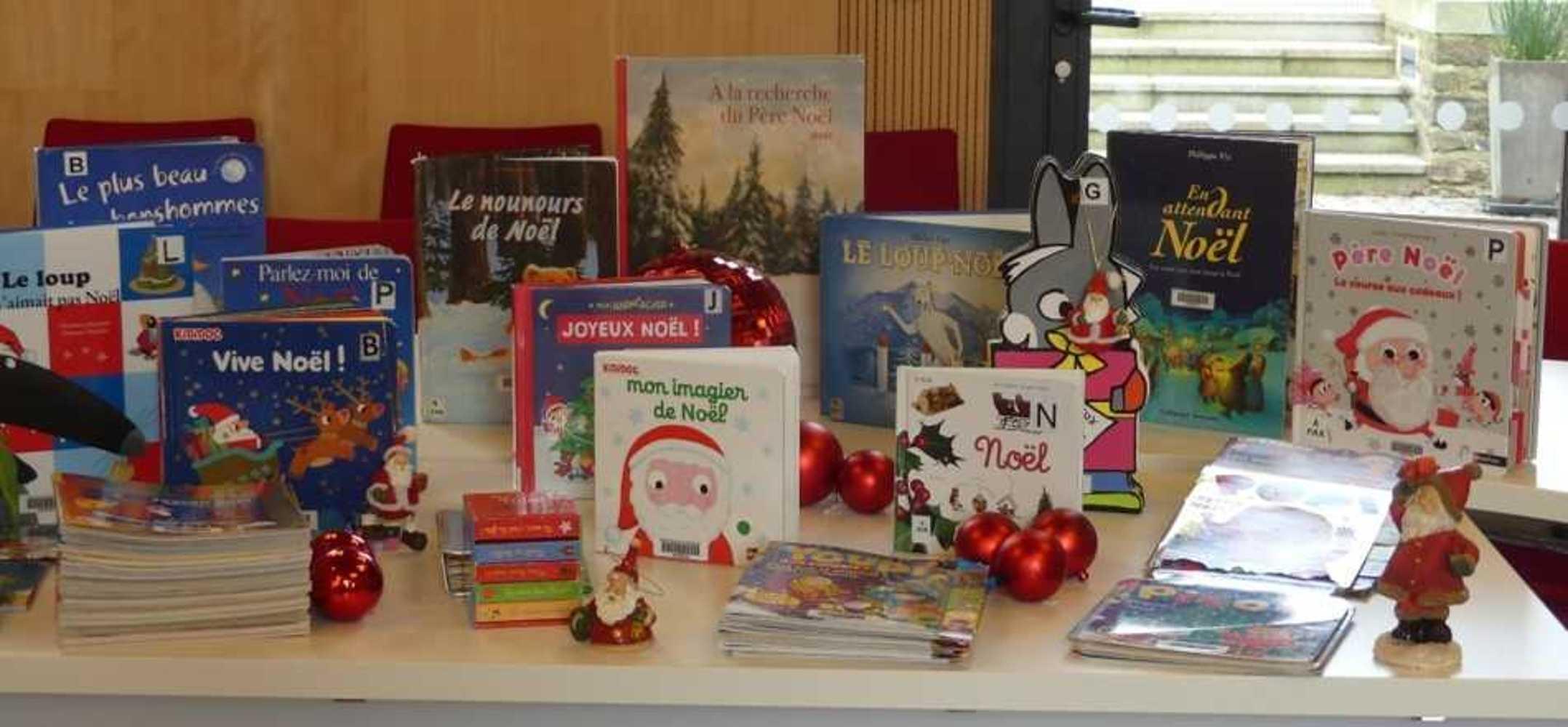 Bibliothèque : les livres de Noël sont arrivés. photopourlesite
