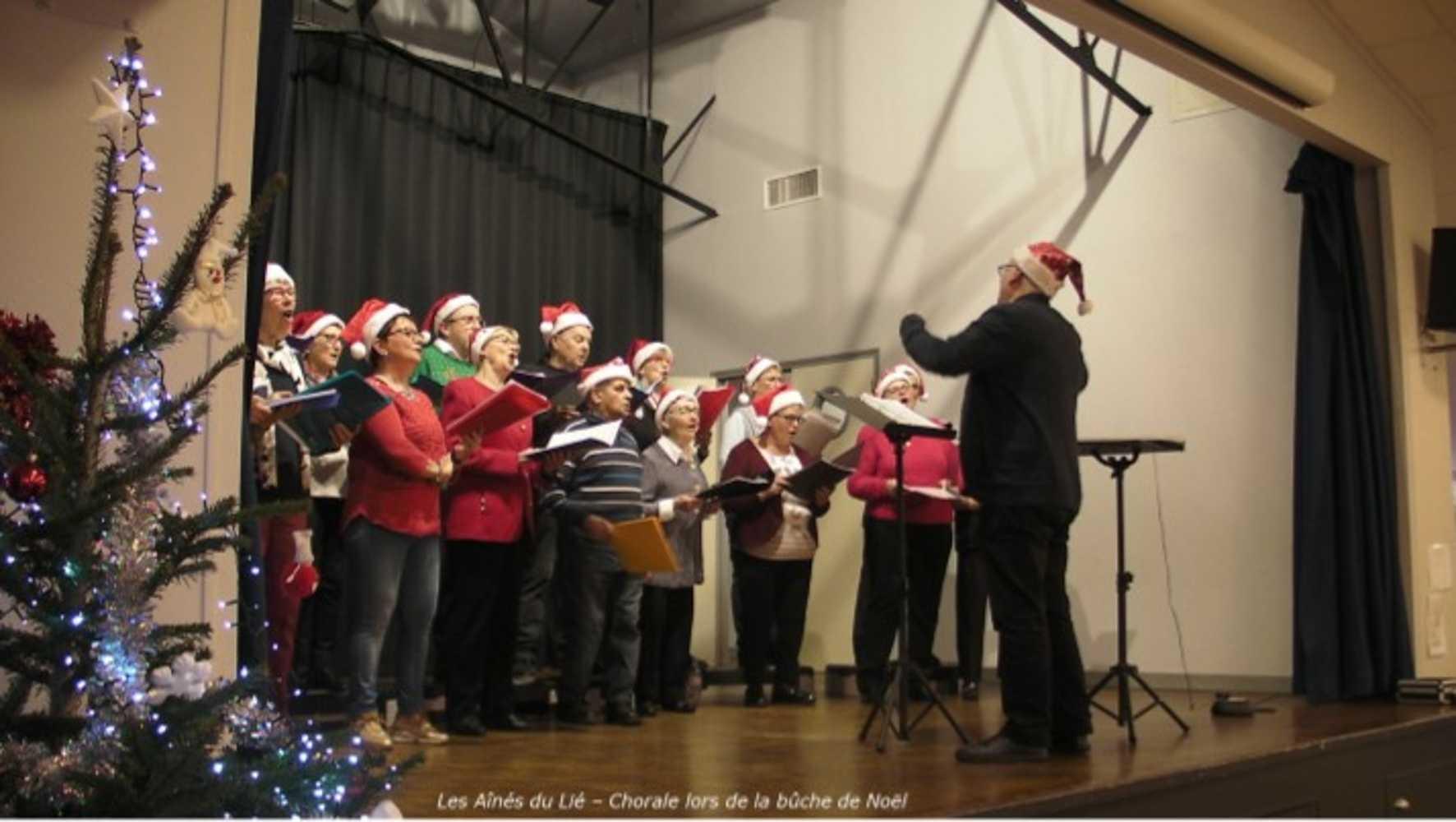 Photos de la chorale des Aînés du Lié à la bûche de Noël image1
