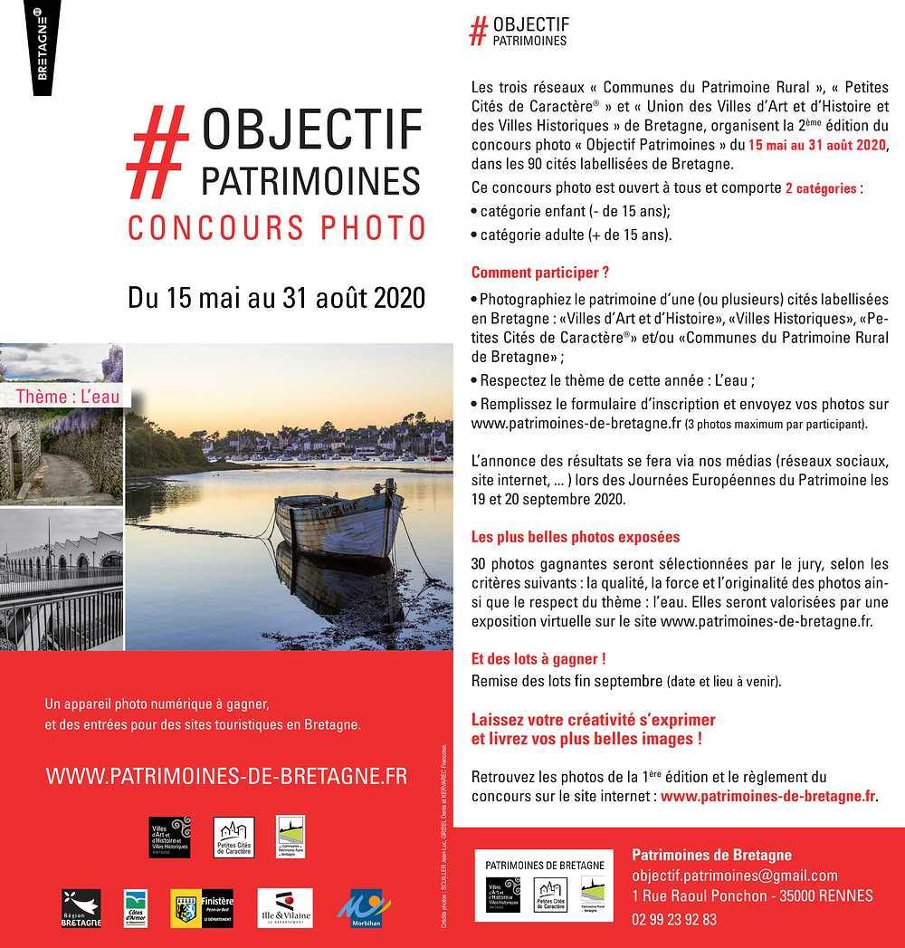 COMMUNES PATRIMOINE RURAL DE BRETAGNE - CONCOURS PHOTO flyerconcoursphoto