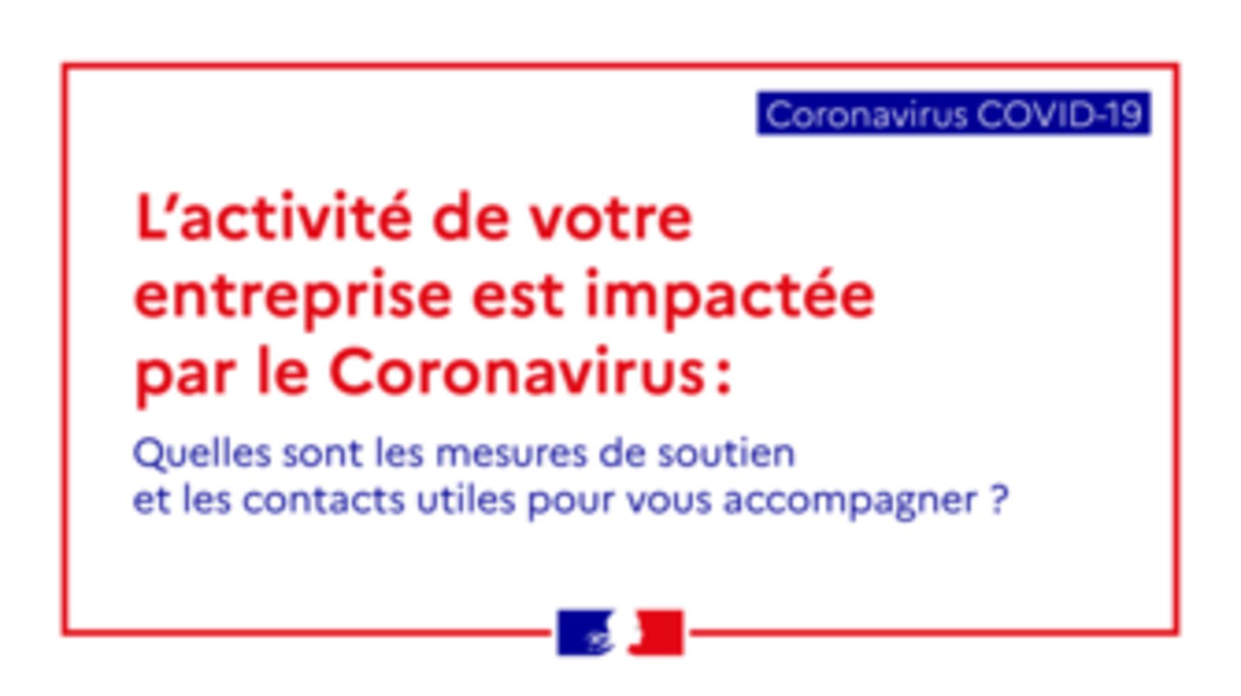 Mesures économiques en faveur des entreprises impactées par le Coronavirus 0