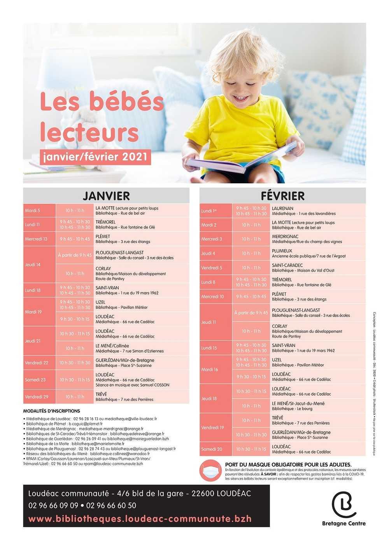 PLANNING DES BEBES LECTEURS - JANVIER/FEVRIER 2021 0