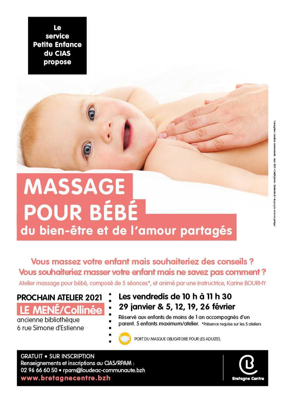 Atelier de massage pour bébé 0