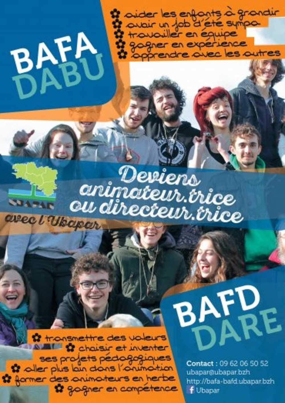 Continuez ou commencez votre formation BAFA ou BAFD avec l''UBAPAR / Calendrier des stages BAFA-BAFD 2021 0