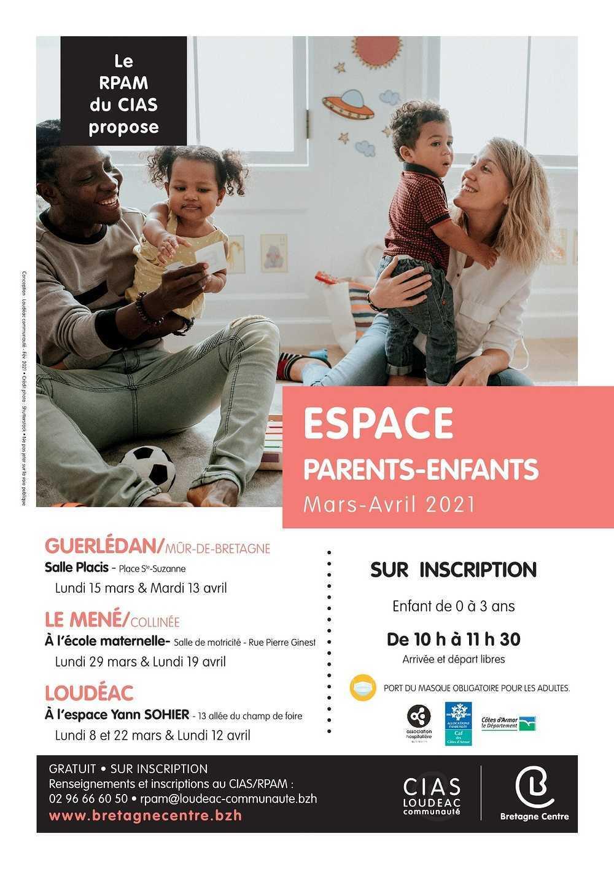 Les nouvelles dates pour l''Espace parents enfants mars et avril 2021 - Organisé par le RPAM du CIAS 0