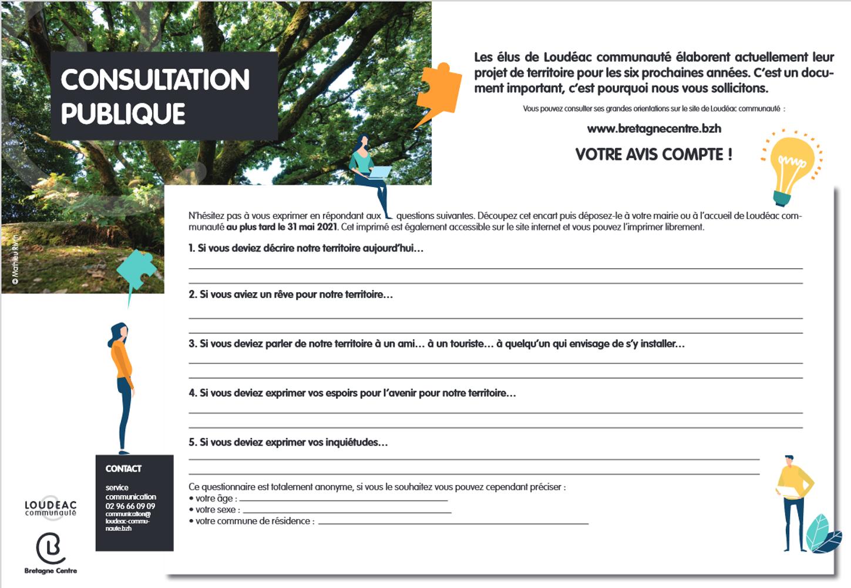 Consultation publique Loudéac Communauté 0
