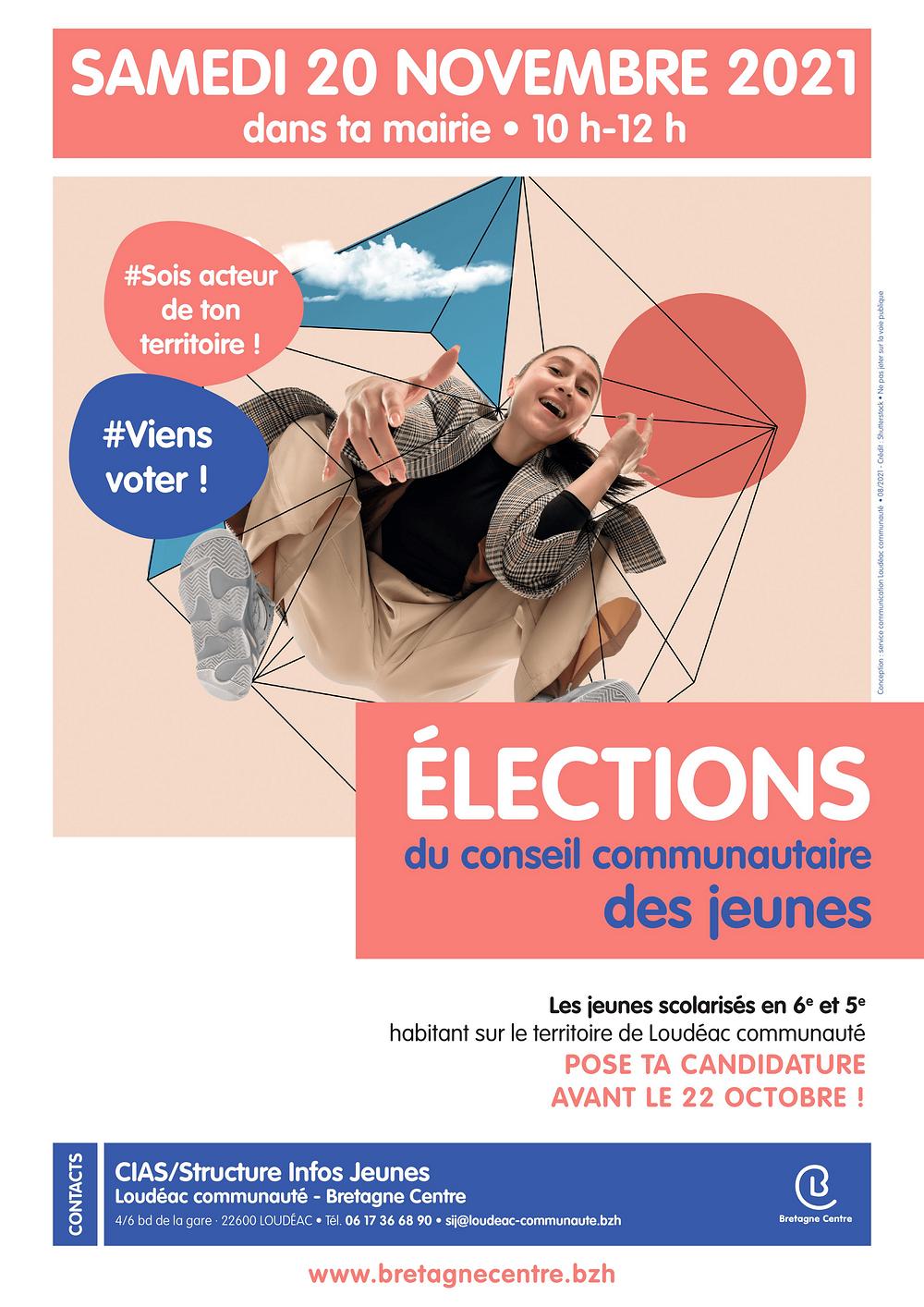 Élections Conseil Communautaire des jeunes le 20 novembre 2021 Candidature avant le 22 Octobre 0