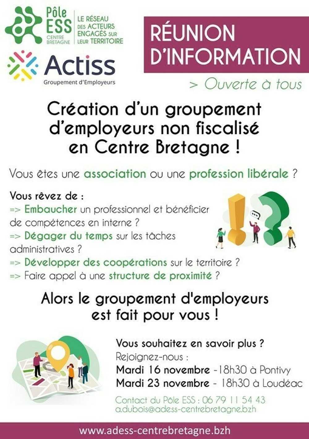 Création d''un groupement d''employeurs non fiscalisé en Centre Bretagne 0