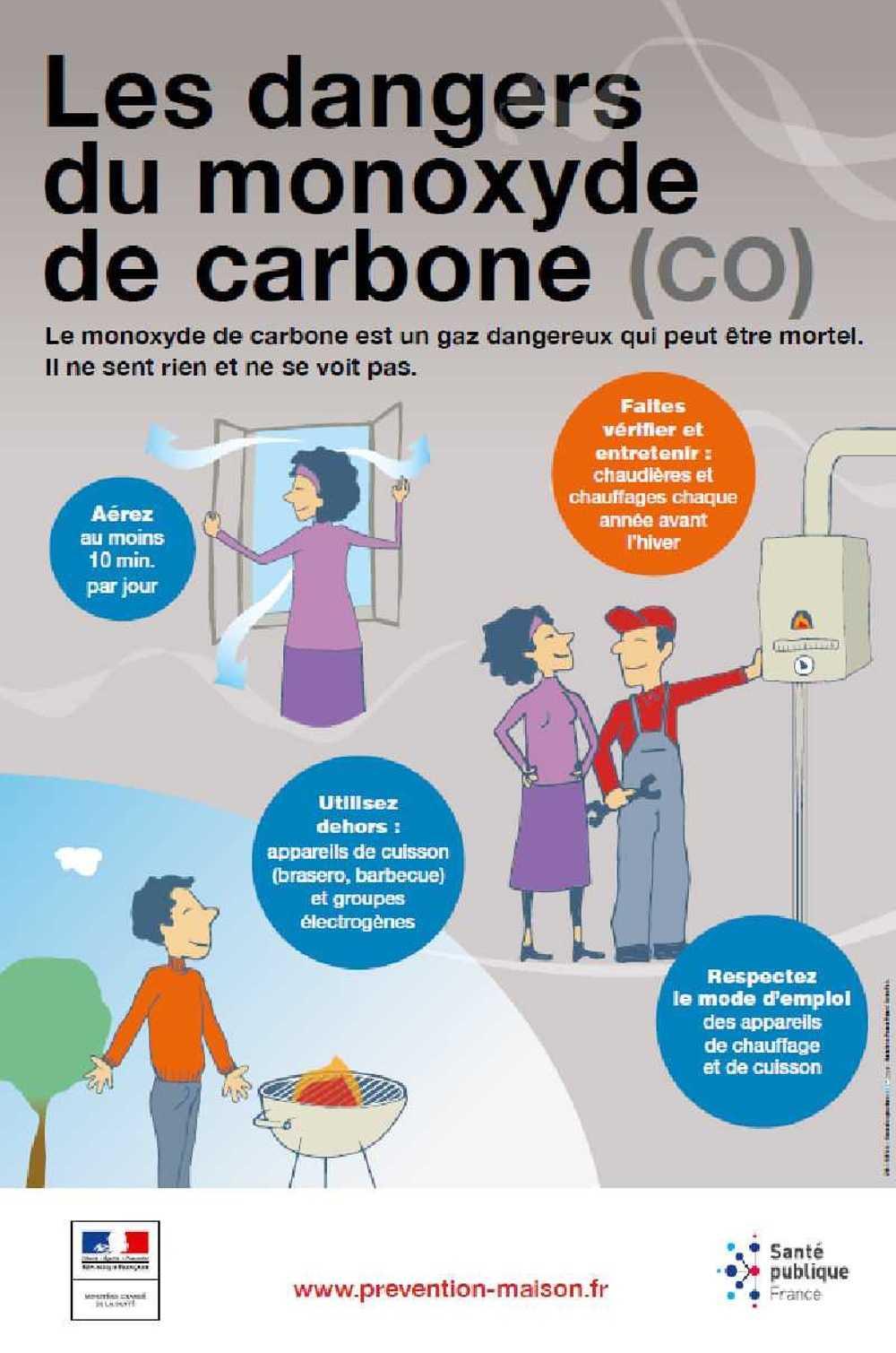 Prévention des intoxications au monoxyde de carbone affichepreventionmonoxydedecarbone